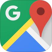 グーグルマップアプリのアイコン